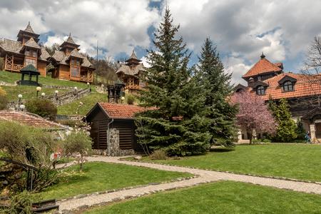 Drvengrad (Mecavnik/Kustendorf) Eco village built by Emir Kusturica in Mokra Gora ,Serbia