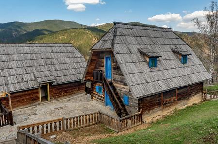 Drvengrad (MecavnikKustendorf) Eco village built by Emir Kusturica in Mokra Gora ,Serbia