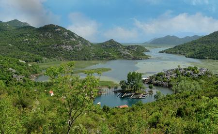 Karuc village on Lake Skadar Montenegro  in the Balkan Peninsula