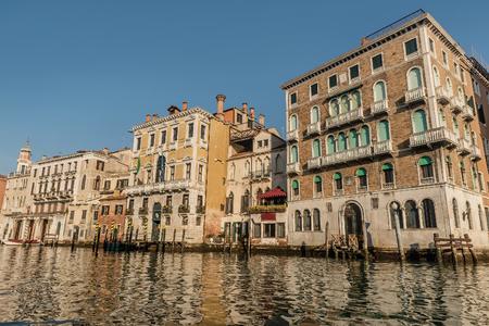 Venice, Italy- January 20, 2019: Grand Canal in Venice, Italy