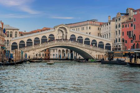 Venice, Italy- January 20, 2019: Rialto Bridge over the Grand Canal in Venice, Italy