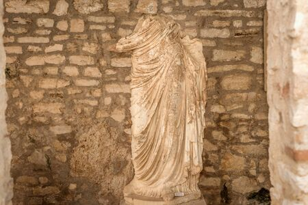 Butrint, Albania- August 8, 2019:Statue in Archeological Museum of Butrint, Albania