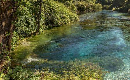 Blue Eye spring of the river Bistrica near Muzine, Albania