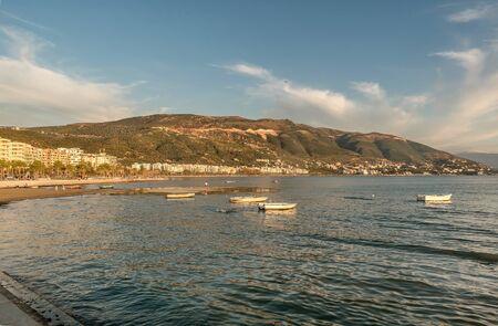 Beautifil summer beach on the coast of Vlore, Albania