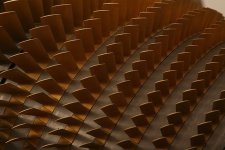 aerospace industry: turbine blades