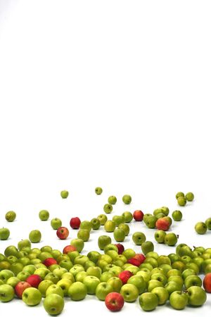 things that go together: Apples green and red on a white background
