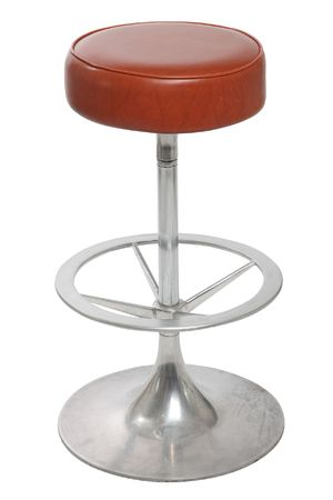 old bar stool on a white background