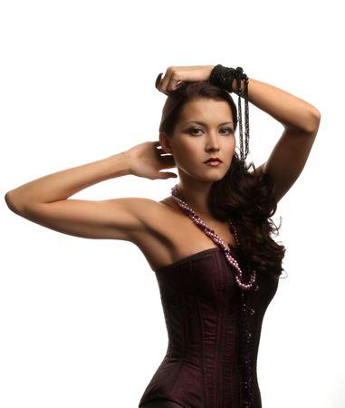 beautiful girl in a corset