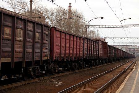 cargo box on a train