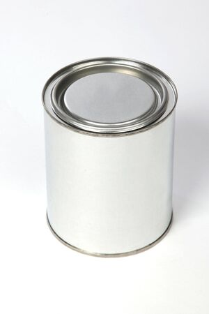 metal (tin) of the bank on a white background photo