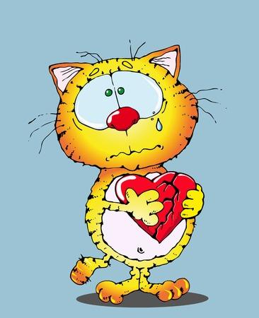 wenen: rode kat huilen, een gebroken hart te houden