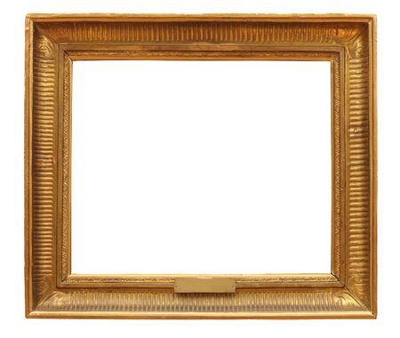 antique frame is very old with cracks and uneven  with Clipping Paths Stock Photo