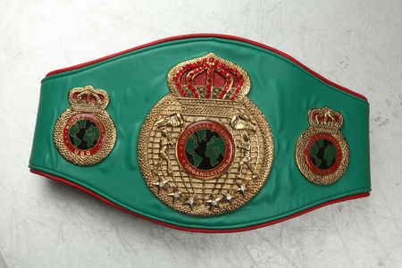 World Belt Boxing champion.UBO. Universal boxing organization.