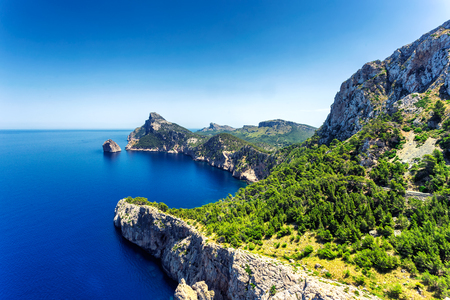 View of beautiful Formentor peninsula in the north of Mallorca island, Spain
