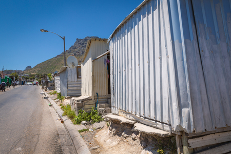Streets of Imizamo Yethu township in Hout Bay, Cape Town