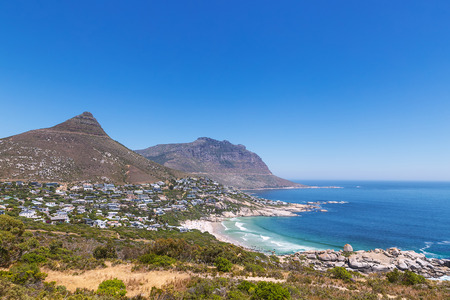 Llandudno suburb and beach view in Cape Town, South Africa Stock Photo