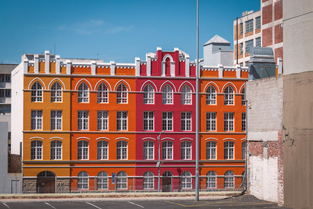 Colorful facades in district six in Cape Town, South Africa