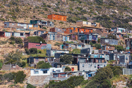Township view in Hout bay area, Cape Town, South Africa Stockfoto