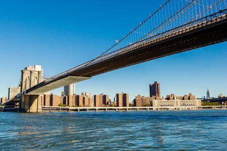 Brooklyn bridge - most famous and iconic bridge in New York