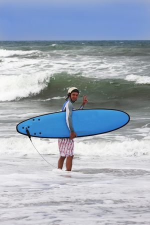going to surf on bali island Stock Photo - 2505072
