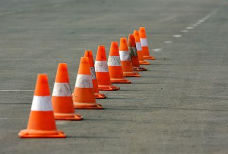 Construcci�n de conos.  Foto de archivo - 2874517