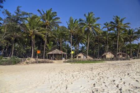 Tropical beach huts on the beach Stock Photo - 4073483