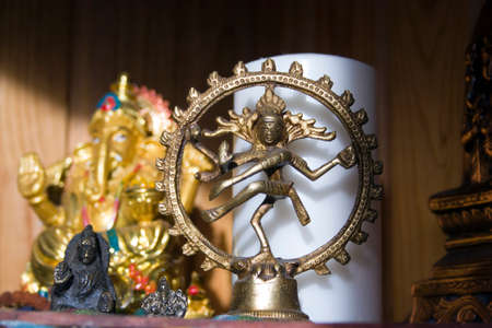hindu gods: statues of Hindu gods