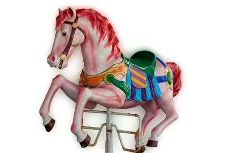 carousel horse: Carousel horse isolated on white background