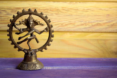 statuette of a dancing God Shiva Nataraja Stock Photo
