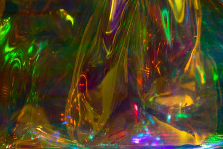 multicolored  holographic iridescent surface wrinkled foil  pastel
