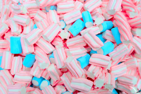 beautiful multicolored background with pink and blue marshmallows