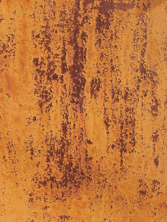 shabby weathered rusty brown and orange iron texture for a wallpaper or background