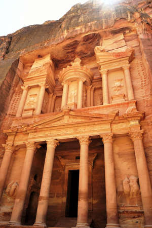 The ancient city of Petra Jordan photo