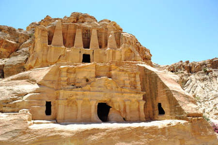 Canyon in Jordan on the road to the ancient city of Petra
