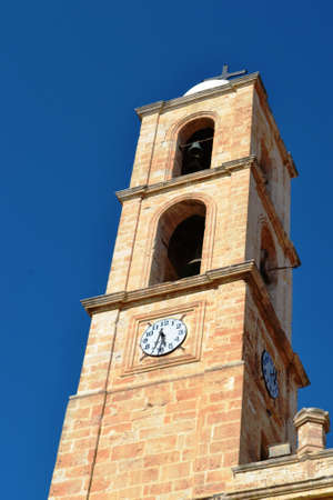 Greece, island Crete, the tower clock, the Church Stock Photo