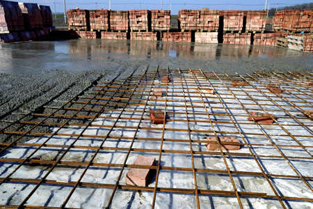 casting of the reinforcement and concrete floors