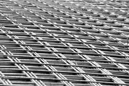 reinforcement: welded mesh of steel reinforcement for concrete Stock Photo