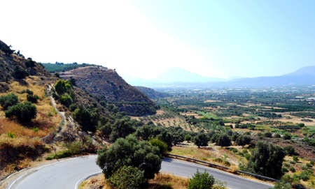 Greece, island Crete view from mount panorama