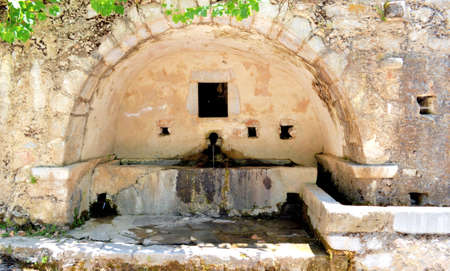 Holy source of the water on the island Crete, Greece Stock Photo - 19258517