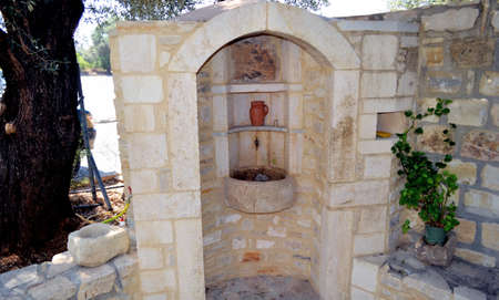 Holy source of the water on the island Crete, Greece Stock Photo