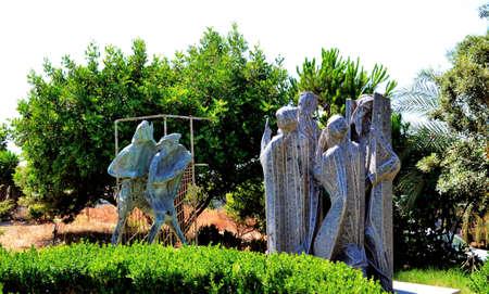 Abstract sculpture of stone, Crete Island, Greece