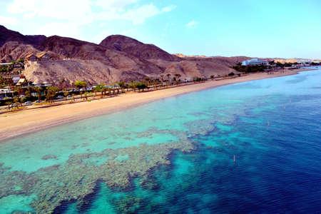 View on underwater observatory  Eilat undersea sail