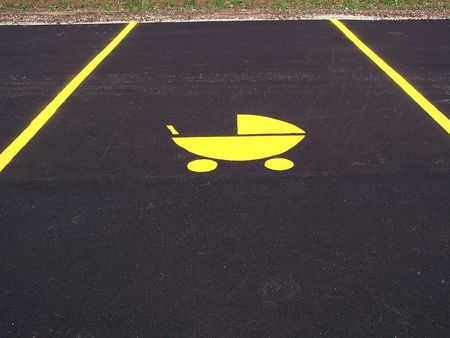 Parking spot reserved for parents of
