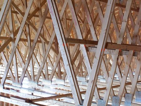 roof framing: Roof Trusses Stock Photo