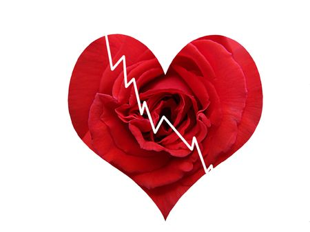 heartbroken: Broken Heart Rose