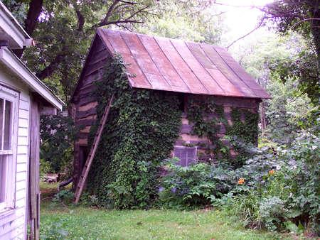 log cabin in rural virginia