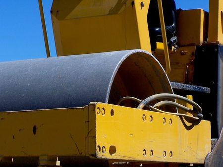 compactor: Closeup of construction compactor machine