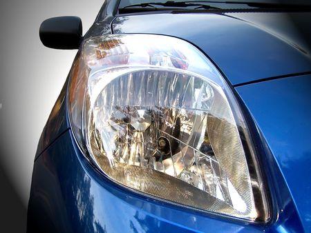 自動車ヘッドライト 写真素材