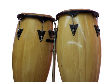 Isolation of Congo Drums Stock Photo