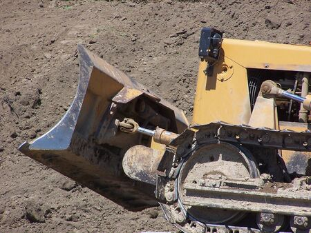 The business end of a bulldozer